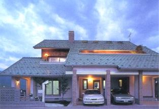 前ひばり野住宅展示場 薪ストーブ付き強制循環高換気システム型 3階部分屋根裏ロフト住宅