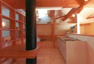2階ホール簡易キッチンコーナー